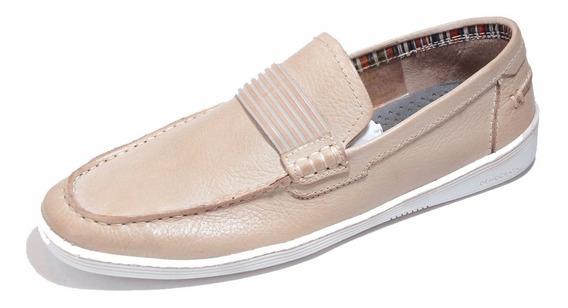 Zapato Mocasin De Cuero Democrata Hombre Laguna 012100
