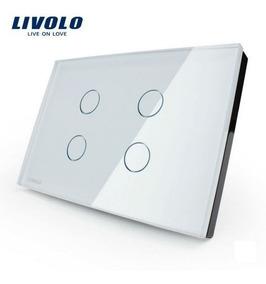 Interruptor Led Livolo Touch 4 Vias Botões Vidro Temperado