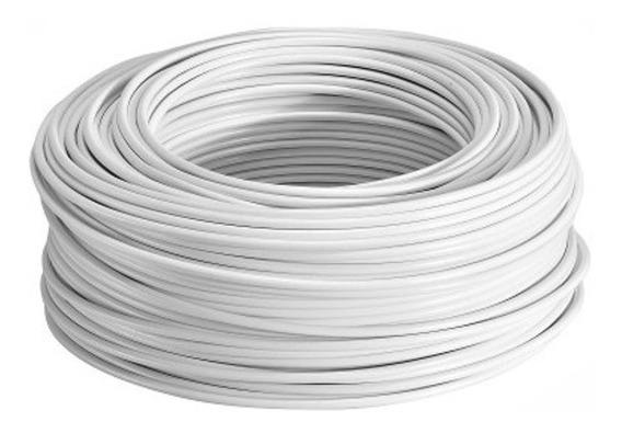 Rollo Cable Eléctrico Cal 12 Thw 100 Metros Blanco Regalalo