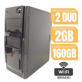 Cpu Montada Simples Core 2 Duo 2gb Hd 160 Win 7 + Garantia!
