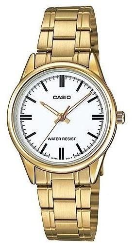 Relógio Casio Feminino Ltp-v005g-7audf Original Garantia Nfe