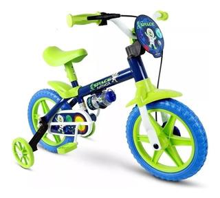 Bicicleta Infantil Nathor Aro 12 Menino Fireman