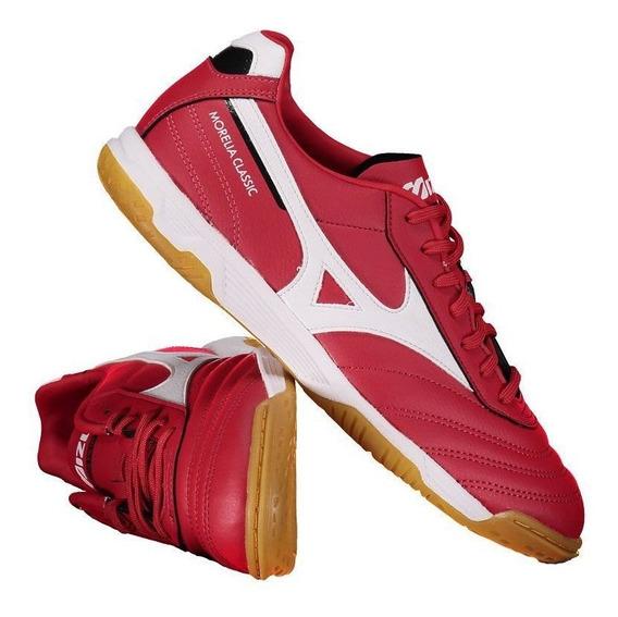 Chuteira Mizuno Morelia Classic Futsal Vermelha