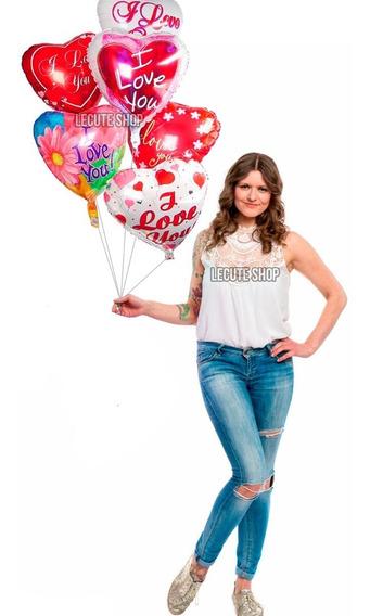 50 Globos Corazon San Valentin 14 De Febrero Dia Del Amor Lo