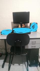 Computador Completo Com Mesa E Cadeira