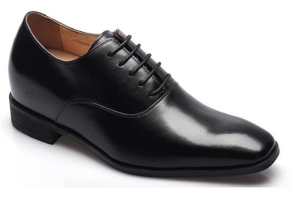 Vito Negro 7cm Zapato Hombre Formal Vestir Y Novios