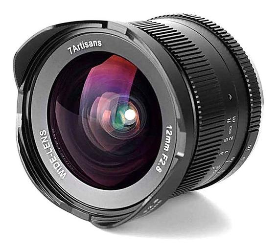 Lente 7 Artisans 12mm 2.8 P/ Fujifilm Fuji X-t2 X-t3 X-pro2