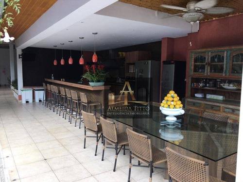 Imagem 1 de 13 de Maravilhosa Casa À Venda No Residencial 2 Em Alphaville Com 1.055 M² De Área Construída - Confira! - Ca2855