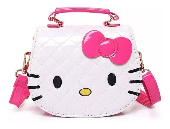 Bolsinha Branca Hello Kitty Menina Criança