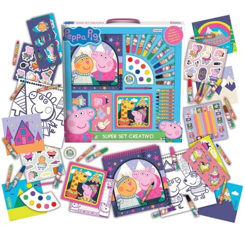 Set Arte Creativo Peppa Pig Pintar Colorear Cod 6351 Bigshop