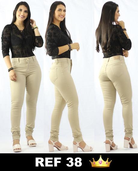 Kit 5 Calça Jeans Feminina Lycra Cintura Alta Premium Luxo