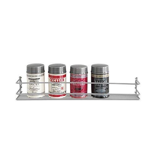 Metaltex Estanter/ía para especias de 5 niveles color plateado