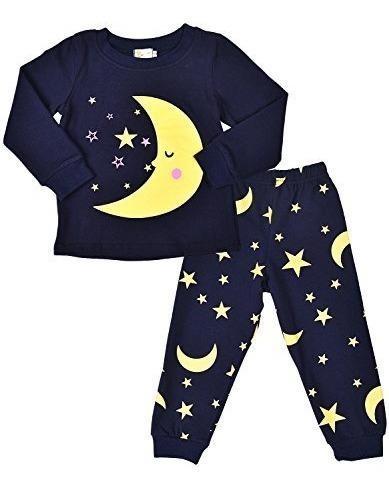 Sorrel Little Girls Pijamas Luna Y Estrellas Ropa De Dormir