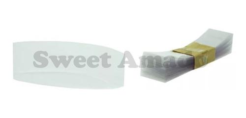 .100 Lacres Tampa Termoencolhível Pote Belém  63mm Incolor