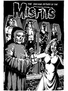 Cartaz Arte Desenho Horror Punk Misfits Poster Plastificado