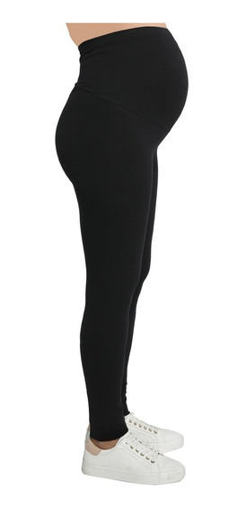 Calza Para Embarazo De Algodon Y Licra Con Faja Expansible!! Ideal Yoga