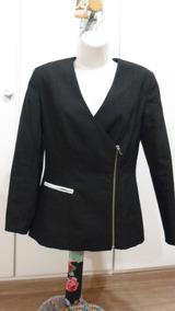 Blazer/casaco Feminino P Preto- Usado - R$ 24,90