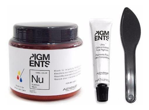 Kit Alfaparf Pigments Mascara Nutricion + Concentrado Color
