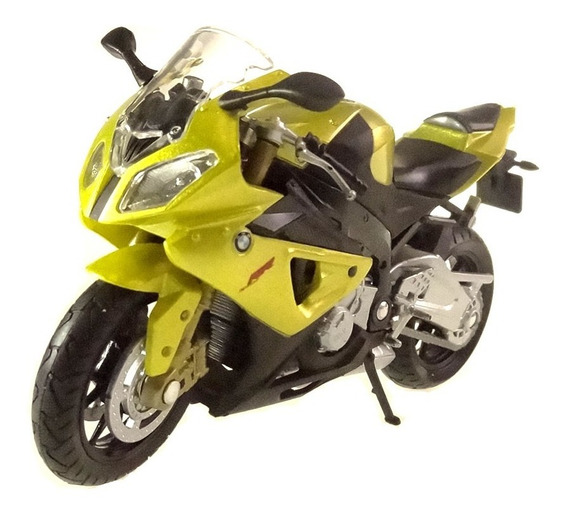 Miniatura Moto Bmw S1000rr Cycle Verde Welly 1/18