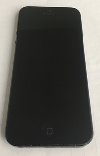 iPhone 5 Preto Com Capa, Caixa, Carregador E Cabo De Dados