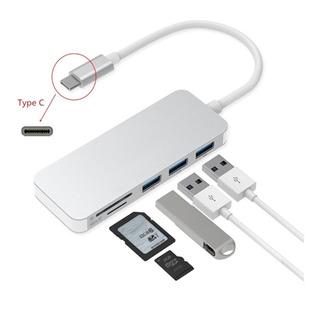 Adaptador Type C Tipo C 3 X Usb 3.0, Tf, Micro Sd 5en1