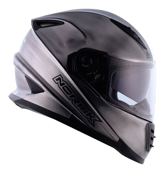 Capacete Norisk Ff302 Iron Chrome Oculos Interno