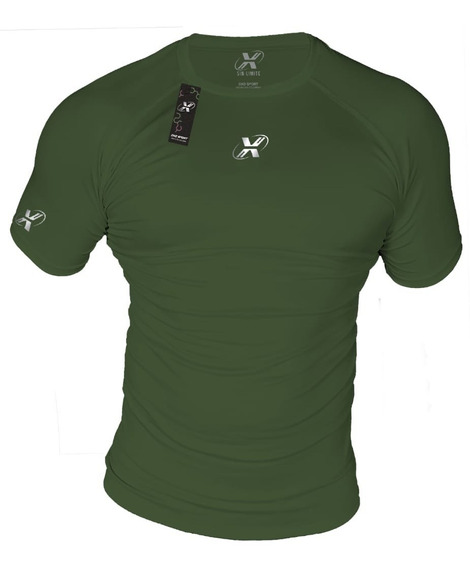 Camiseta Deportiva Licra Fria Slim Fit Uv
