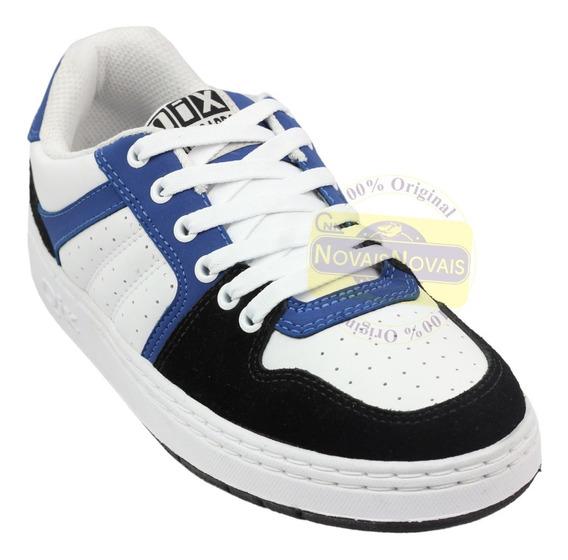 Tênis Qix Masculino Branco/azul 80s (100% Original) Com N F