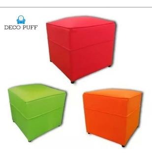 Puff Cubo 40x40 Reforzado Ecocuero Premium. Oferta!!