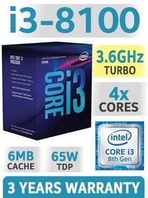 Processador Intel Core I3 8100 3.60 Ghz