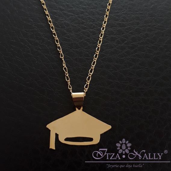 Collar Graduación-birrete Chapa De Oro