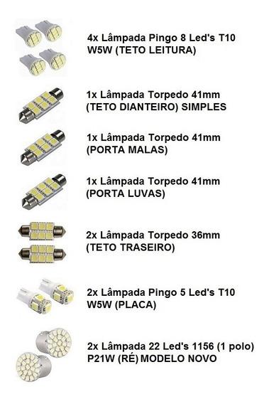 Kit 15 Lampadas Leds Internas Teto Ré Gm Astra 2003 A 2011