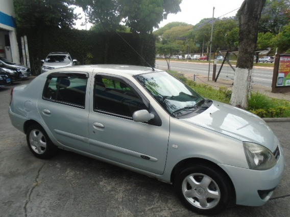 Clio Sedan 1.6 Privilege 2009 Prata Flex Completo