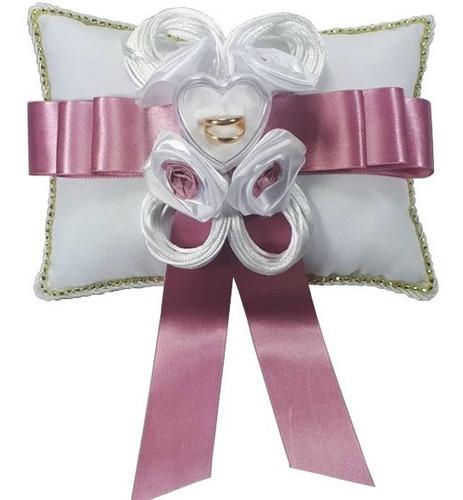 Almofada Porta Aliança Casamento E Bodâs Detalhes Cor Rosê
