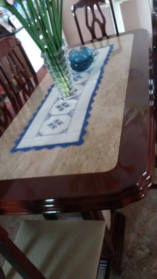 Magnífica Mesa Sala De Jantar , 6 Cadeiras Madeira Maciç