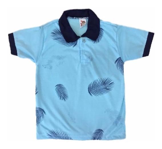 05 Camiseta Camisa Polo Infantil Masculina Roupas Menino