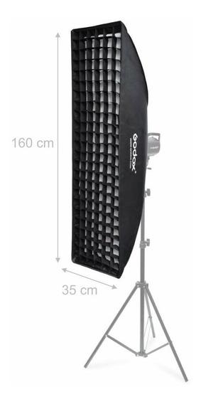 Softbox Strip Godox 35 X 160 Cm Montagem Bowens Com Grid