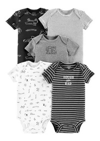 Carters Conjunto Kit Body Manga Curta Longa Menino Carter
