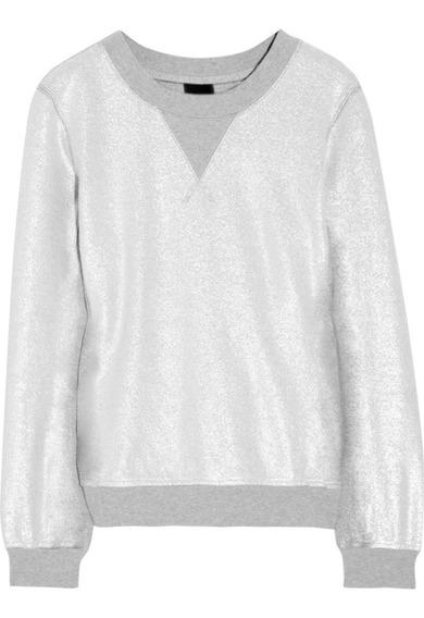 Sweater Unisex Complot Foil Metalizado Plata