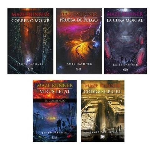 Imagen 1 de 6 de Saga Completa Maze Runner (5 Libros) - Dashner, James