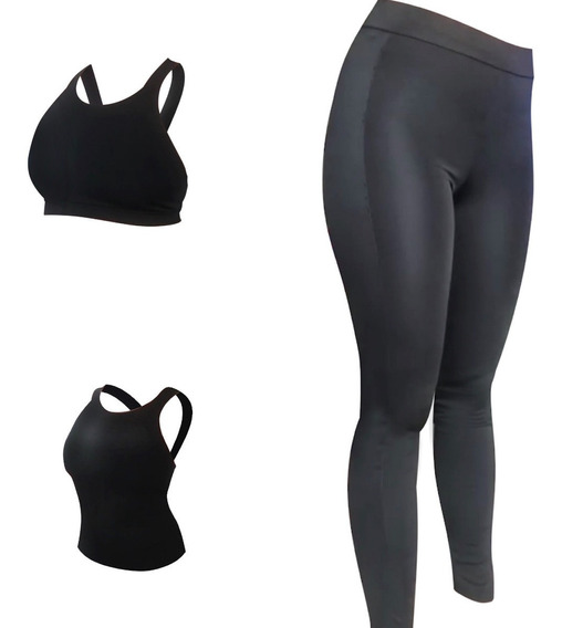 Conjunto Deportivo Mujer (top+calza) O (musculosa+calza)