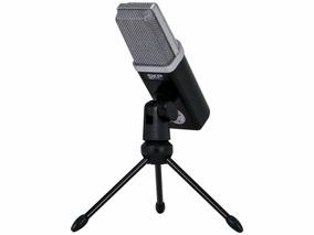 Microfone Usb Condensador Profissional Studio Podcast100 Skp