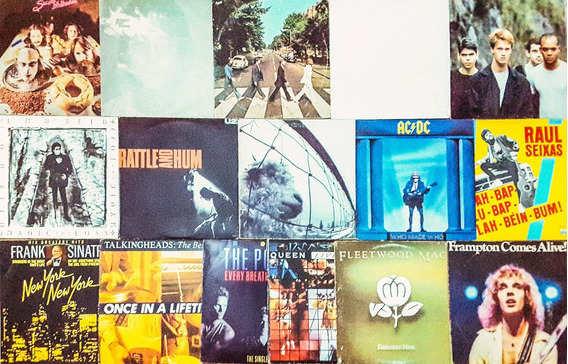 Coleção 100 Discos De Vinil Rock Clássicos - Imperdível