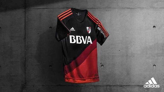 Remera River Plate Negra Original /poco Uso