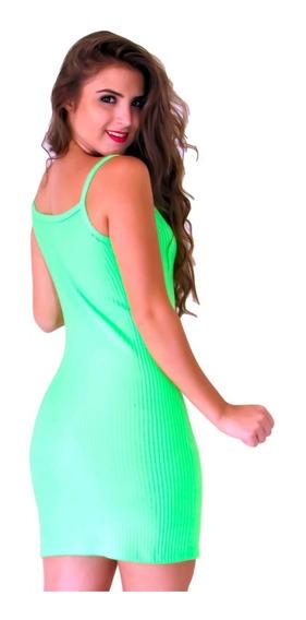 Vestido Neon Alcinha Canelado. Ref: 789