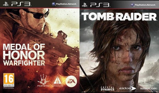 Medal Of Honor Warfighter + Tomb Raider Ps3