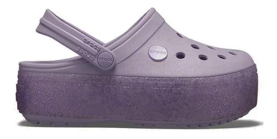 Crocs Crocband Plataforma Kids Niños Originales Gs Lavander 5802