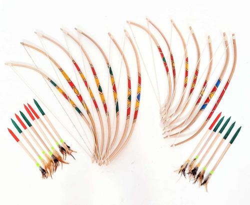 Imagem 1 de 5 de Arco E Flecha Jenipapo Arma Indígena Decoração Rústica