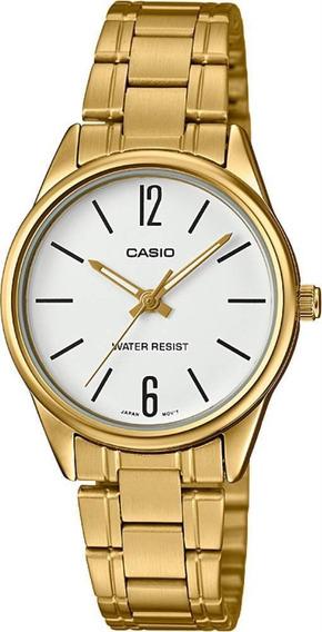 Relogio Casio Feminino Ltp-v005g 7bu Dourado Analogico Ofert