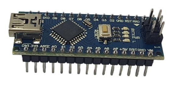 Placa Nano V3 Pino Soldado + Cabo Usb Para Arduino Nano
